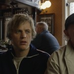 JOHNNY FLYNN (Arthur) and his father ROBERT BLYTHE (George) in the pub